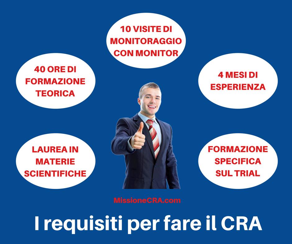 Quali sono i requisiti per fare il CRA?