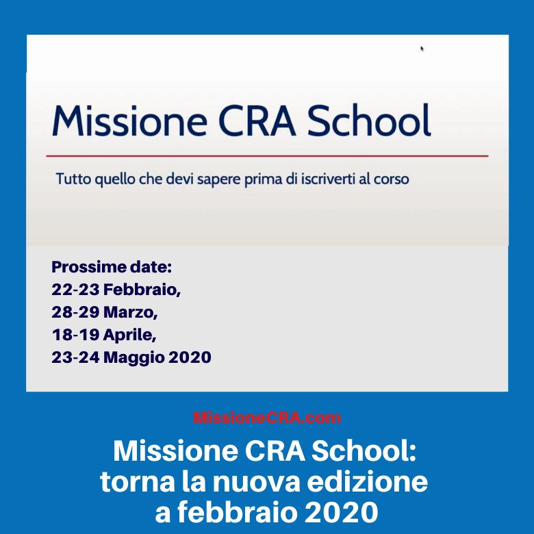 Missione CRA School: torna la nuova edizione a febbraio 2020 [videotestimonianza]