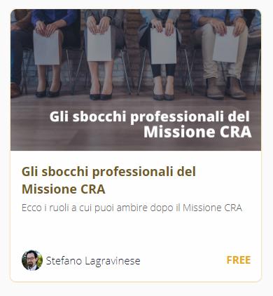 Formazione Ricerca Clinica sbocchi professionali Missione CRA