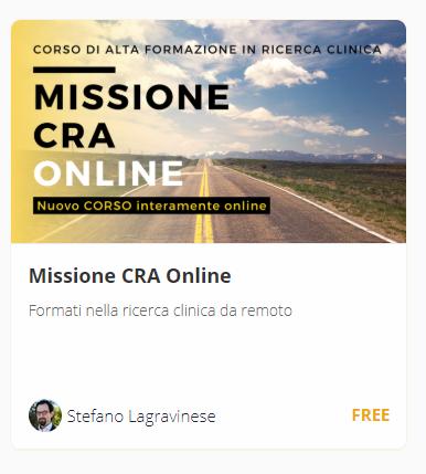 Formazione Missione CRA online Ricerca Clinica